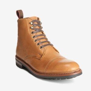 $395 Men Allen Edmonds Surrey Cap Toe Leather Boot